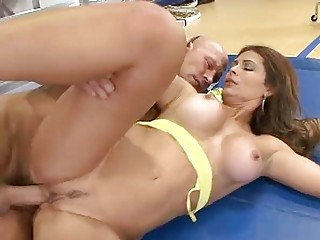 Mature Latina Filled By A Big Penis