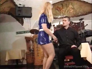 Blonde Cougars Get Their Asses Spanked By Young Dude With a BDSM Paddle