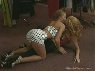 Ravishing Lesbo Blondes Get Anal Fucked and Overspread in Cum in a Wild Orgy