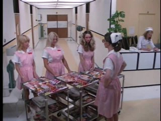 Kinky Retro Nurse Cris Cassidy Gets Facialized Twice