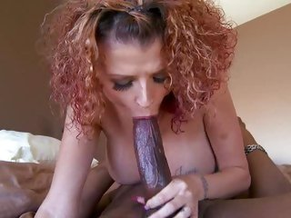 Joslyn James loves engulfing on huge black mamba
