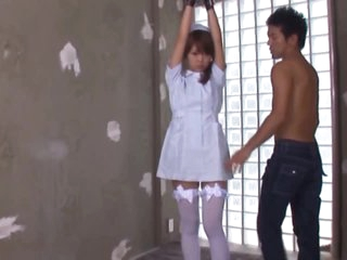 Sexy Oriental Nurse Sayaka Fukuyama Sucks Dong With a Sex Toy In her Pussy