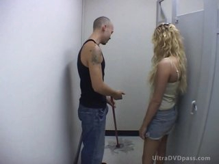 Cruel Blonde Babe Bangs Her Submissive Boyfriend With a Strapon