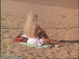 Hot Karen Miers Sunbathing at the Beach