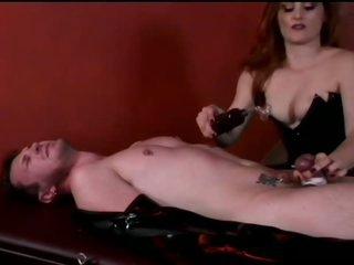 Goddess Jemini Terrorizes Fastened Up Dude