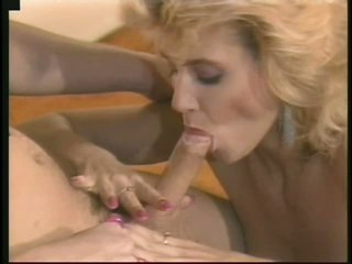 Retro Office Slut Ginger Lynn Gets Fucked and Facialized By Her Boss