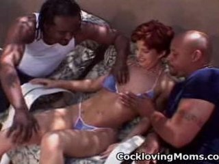 Naughty milf gets a naughty gang...