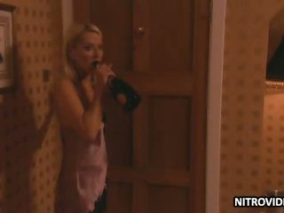 Breathtaking Golden-haired Zoe Lucker Gets Banged Wearing a Sexy Negligee