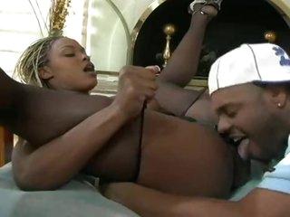 Incredible big titties on black cock whore