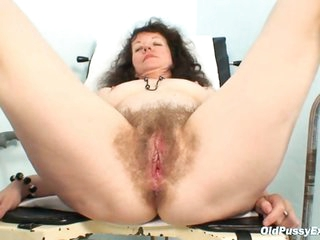 Karla visits gyno clinic with extremely bushy pussy