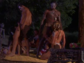 Horny Large Breasted Aborigines Get Fucked In Group Sex Orgy