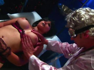 Scientist Fucks Brunettes Sarah Vandella and Shawna Lenee In Threesome