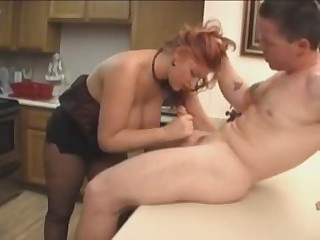 Bigtits in  kitchen