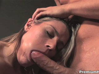 Megan Pleasure gets face fucked before eating cum