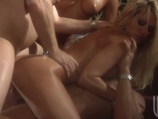 Jessica Drake in hot orgy after performance