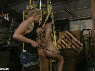 Kathia Nobili spanking the ass of hawt honey with whip