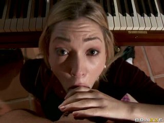 Lily Luvs take piano professor ramrod into her mouth