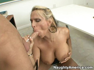 Giving grades and giving head.  Sexy teacher Holly Halston knows best!
