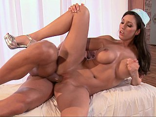 Brunette nurse gets fucked
