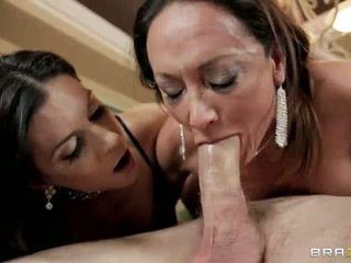 Homeless guy Jordan Ash with big cock gets used by two sex obsessed milfs India Summer and Michelle Lay. They suck his big dick deep by turns and then beg for serious pussy pounding.