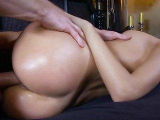 Stunning Erica Fontes enjoys a rough pussy pounding