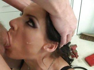 Sizzling Phoenix Marie gets her slippery throat slammed