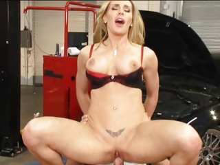 Saucy Tanya Tate gets slammed up her wet pussy lips