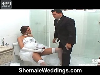 Angel voluptuous shemale bride