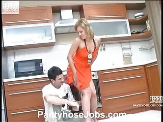 Mima&Vitas videotaped while pantyhosefucking