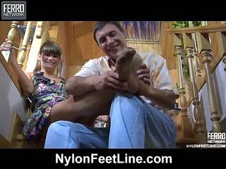 Gloria&Tobias nylon footsex movie