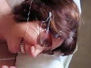 Wife takes a nasty facial