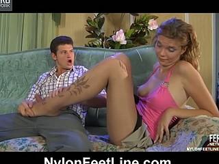 Cecilia&Clifford nylon footsex movie
