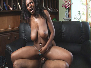Sexy fuckin black slut with humongous natural titties.