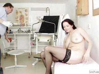 the inside of brunette milf's vagina