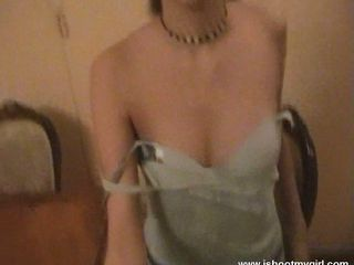 dark-haired russian loves sucking cock and fucking on cam