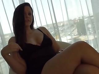 Brunette Teasing Edged Handjob with Precum and Cumshot