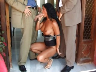 Excited Milf Has A Threesome With Two Excited Guys Outdoors