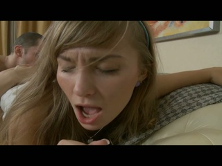 Blonde amateur is expressive when getting drilled