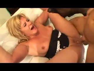 Young man gives mature blonde anal sex
