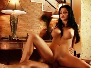 Alluring Aletta Ocean bounces her pussy on a huge cock