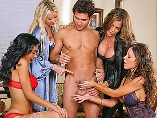 Four Ladies and one favourable guy!